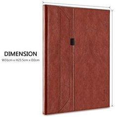 For iPad Pro 12.9 Case Leather W Pencil Holder For Apple Pencil [Invisible Stand] Portfolio Case Smart Cover For iPad Pro 12.9