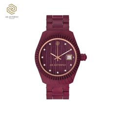TRAMONTO wooden watches for her by AB AETERNO, 100% natural Purpleheart wood. www.abaeternowatches.com Gorgeous watch for the holiday season