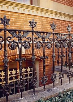 This 2-ft.-tall railing in cast iron was created for a building in Washington, DC, by Historical Arts & Casting.