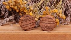wood plugs wooden gauges plugswood 5mm 6mm by PlugsWoodBoutique