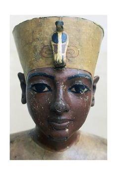 Giclee Print: Head of Tutankhamun in Painted Wood, from Tomb of Tutankhamun : 24x16in