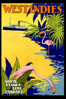 West Indies travel poster.