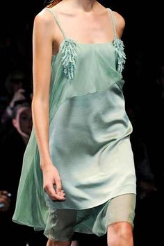 chasingrainbowsforever:  dress-this-way:Alberta Ferretti Spring 2013  Colors ~ Mint Green
