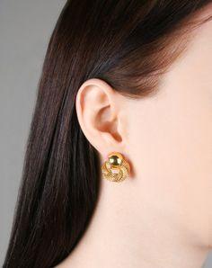 Gold earrings Gold vintage earrings Gold jewellery Gold wedding earrings Geometric earrings Gold gro
