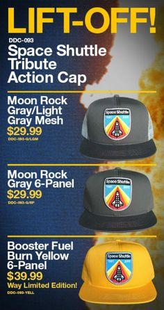 "DRAPLIN DESIGN CO. ""DDC-093 SPACE SHUTTLE TRIBUTE"" ACTION CAP @draplin #SpaceShuttle #NASA"