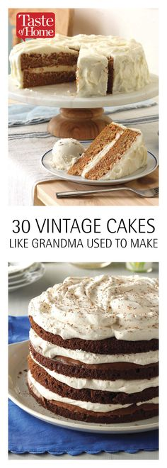 30 Vintage Cakes Like Grandma Used To Make<br> From fluffy angel food to charming butter pecan, vintage cakes are making a comeback. Bake your way through this collection of classic recipes and Cupcakes, Cake Cookies, Cupcake Cakes, Fruit Cakes, Cupcake Recipes, Baking Recipes, Dessert Recipes, Cakes To Make, How To Make Cake