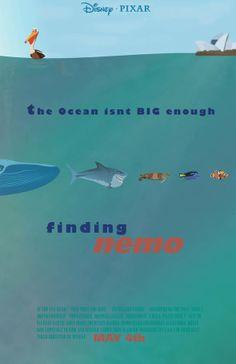 8 alternative movie poster designs for Disney Pixar's Finding Nemo #graphicdesign #design #poster