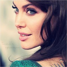 Angelina Jolie - she has the most stunning features