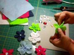 Simple, quick, cute felt flower bows