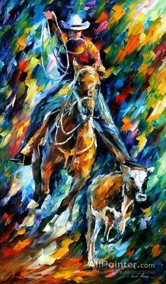 Cowboy Wall Art Horse Oil Painting On Canvas By Leonid Afremov. Size: X Inches cm x 100 cm) Horse Oil Painting, Oil Painting Texture, Oil Painting On Canvas, Canvas Art, Painting Art, Cowboy Artwork, Contemporary Wall Art, Oil Painting Reproductions, Leonid Afremov Paintings