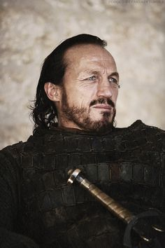 "Jerome Flynn, Bronn in ""Game of Thrones"" TV series.  ""Bronn was noknight, that was true. Bronn was a battle-hardened killer."""