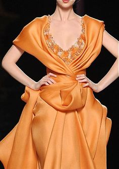 Fashion Design, Haute Couture, Ready to Wear Collections Abed Mahfouz, Style Haute Couture, Couture Fashion, Fashion Moda, High Fashion, Beautiful Gowns, Beautiful Outfits, Mode Orange, Fashion Details