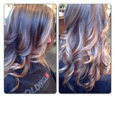 Gorgeous ombre highlights, cut, & style