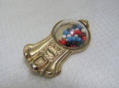 1928 Jewelry Company Bubble Gum Machine Brooch by newoldjewels, $28.95