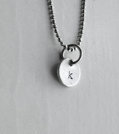 Sample Sale k Necklace Tiny Initial Necklace by GirlBurkeStudios #k