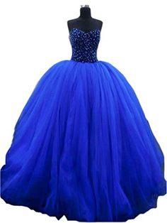 Ikerenwedding Women's Sweetheart Beaded Long Tulle Wedding Gown Royal Blue US4 Ikerenwedding http://www.amazon.com/dp/B0147UGTLM/ref=cm_sw_r_pi_dp_DvP1vb1PVPXR7