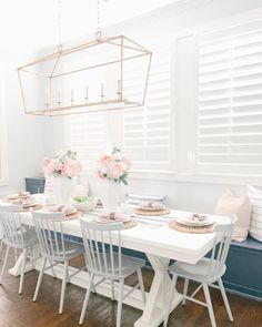 Chairs For Living Room Modern - Dining Chairs Australia - White Dining Room Table, Pink Dining Rooms, Trestle Dining Tables, Dining Nook, Modern Dining Chairs, Dining Table In Kitchen, Kitchen Chairs, Living Room Chairs, Built In Dining Room Seating