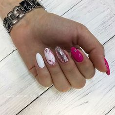 Attention to the semi-permanent varnish - My Nails Stylish Nails, Trendy Nails, Hot Nails, Hair And Nails, Nails 2018, Funky Nails, Manicure E Pedicure, Creative Nails, Acrylic Nails