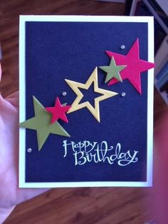 Escape2stamp: Teen birthday card ideas