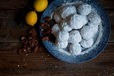 Desserts for Breakfast: A Citrus Dessert Re-issue Meyer Lemon Snow Balls Tea Cookies, Lemon Cookies, A Feast For Crows, Baby Shower Desserts, Food Articles, Almond Recipes, Vegan Recipes, Eat Dessert First, Food 52