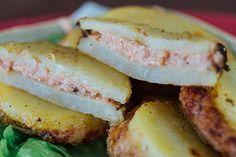 Deliciosas patatas rellenas del pueblo de Olot