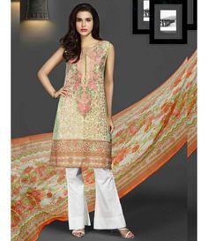 Rangrasiya Embroidered Lawn Collection 2016 D-11007A
