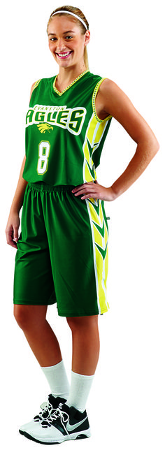 3 Pointer fully sublimated ProSphere women s basketball uniform. Teamwork  Athletic Apparel 6106be6f4
