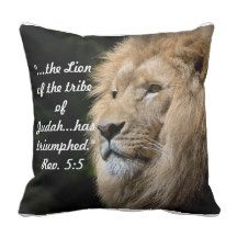 Lion of Judah Pillow Christian Resources, Scripture Cards, Lion Of Judah, Prayer Book, Christianity, Create Your Own, Unique Gifts, Novels, Bible