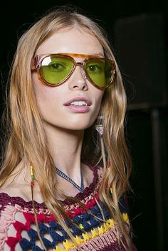 Spring Summer 2016 Eyewear Trends: flashy sunglasses