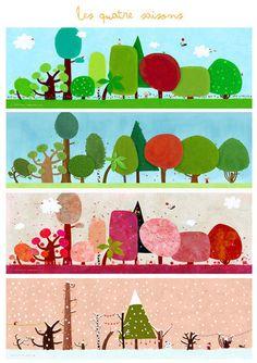 les quatres saisons by nicholas gouny on dawanda