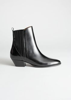 afbe1e6b25b Low Leather Cowboy Boots Black Boots, Cowboy Boots, Ankle, Shoe Boots, Heels