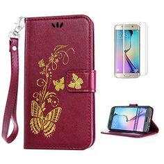 Yrisen 2in 1 Samsung Galaxy S6 Edge Tasche Hülle Wallet C…