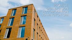 Built to provide much needed student accommodation in the heart of historic Leamington Spa, the impressive Grand Union buildings contain 187 flats on a canalside setting in a former industrial area. Brick Facade, Brickwork, Facades, Bricks, Buildings, Multi Story Building, Spa, Industrial, Student