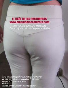 Arrugas en los muslos del pantalón Hand Designs, White Jeans, Sewing Projects, Sewing Patterns, Couture, Knitting, Draping, Ideas, Fashion