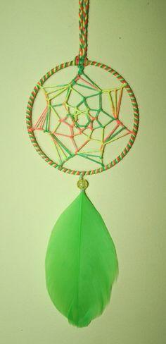 FREE SHIPPING  UV Rainbow Green Dreamcatcher by PsyMagic on Etsy, €13.33
