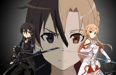 The Lovers: Sword Art Online: Kirito and Asuna The Lovers serie is a serie of artworks about my favorite anime couples, some are in it out of love, some for . Arte Online, Kunst Online, Online Art, Sao Anime, Manga Anime, Sao Kirito And Asuna, Tous Les Anime, Sword Art Online Wallpaper, Sword Art Online Kirito