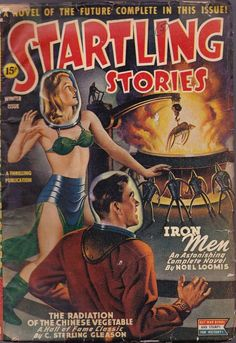 Startling Stories Mag, Winter 1945 #Pulp #Art #Cover #SciFi