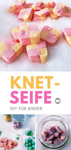 Kinder Knetseife selber machen – Anleitung: Knetbare Seife DIY Kosmetik Children make dough themselves – Instructions: Kneadable soap DIY cosmetics Crafts To Make, Fun Crafts, Crafts For Kids, Clay Crafts, Rock Crafts, Homemade Crafts, Simple Crafts, Nature Crafts, Decor Crafts