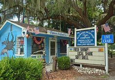Flowers Seafood Company Edisto Island, SC Select fresh seafood & it's cooked in a trailer behind the store front, eat outside