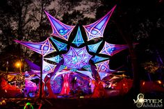 Chill space, festival decor, UV active, psytrance, psychedelic, taken at Vortex OpenSource at the Circle of Dreams, Cape Town, South Africa