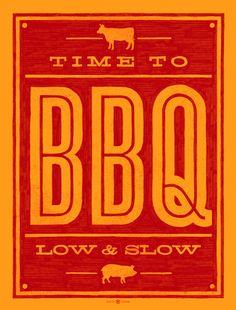 Time to BBQ art print. $25.00, via Etsy.