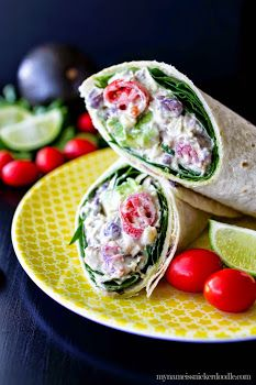 My Name Is Snickerdoodle: Southwestern Chicken Salad Wrap Recipe