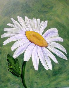 Daisy Flower Art Miss Daisy Painting by by lorraineskala on Etsy