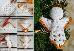 Angels From A Square – Free Crochet Pattern – Craft-Addicts