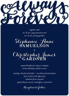 Laser cut details on this classic and bold invite @weddingpaper
