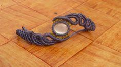 bracelet macrame avec pierres semi précieuse pierre de lune