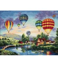 Dimensions® 16''x12'' Counted Cross Stitch-Balloon Glow at Joann.com