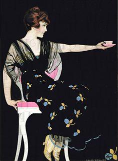 Another Cup Of Tea Please. VINTAGE Digital ILLUSTRATION. Digital Download. Coles Phillips Vintage Print