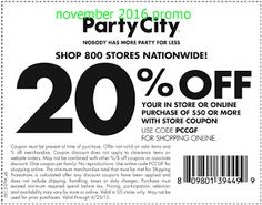Party City Coupons