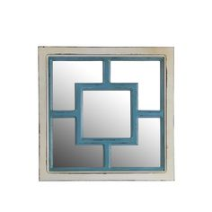 Bring life to your wall with this Privilege square wooden wall mirror. You'll love the instant elegance this decorative piece adds to your home decor.